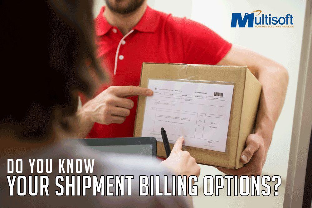 Your Shipment Billing Options